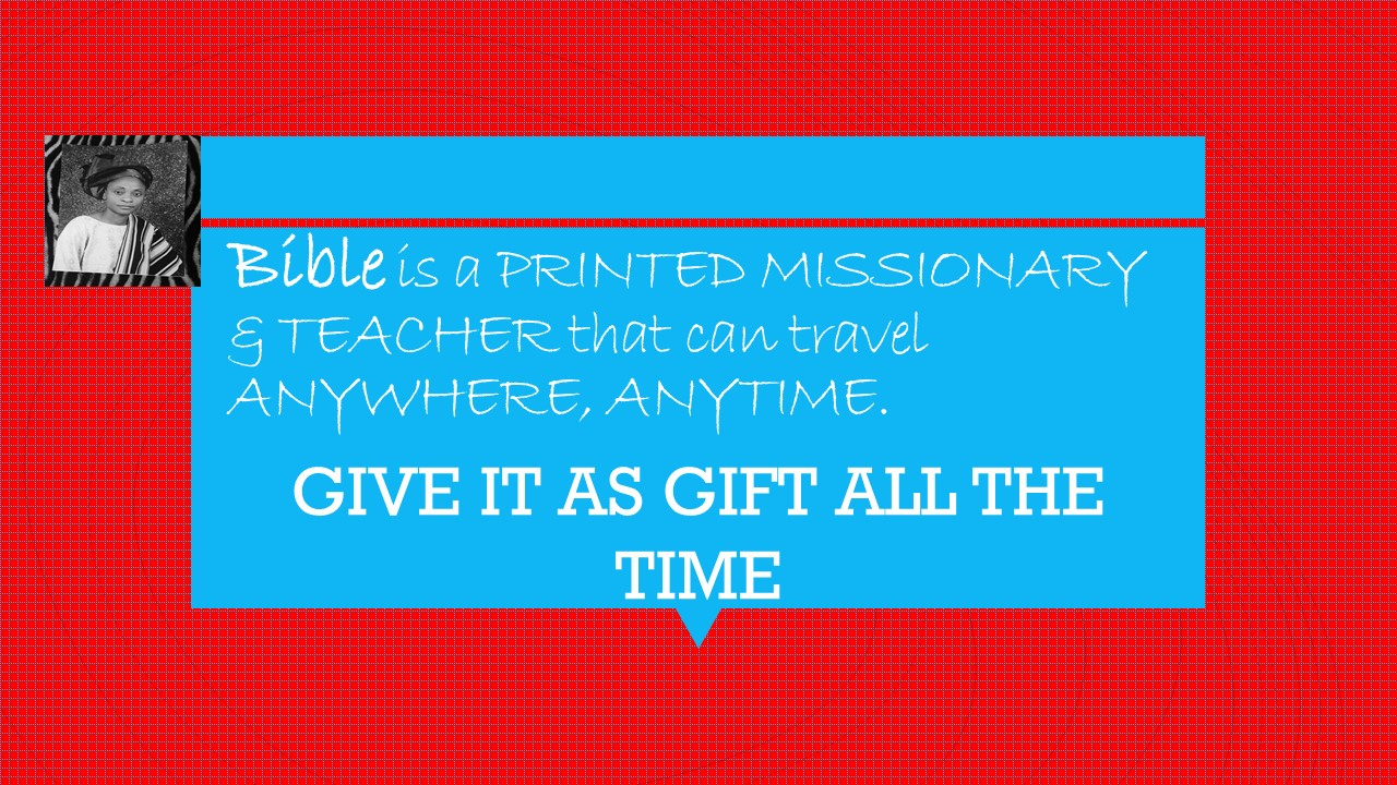 Bible – A Missionary (Grace Made products)